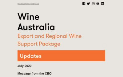 WINE AUSTRALIA JULY 2020  – extension to Export and Regional Wine Support Package